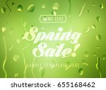 advertisement about the spring... | Shutterstock .eps vector #655168462