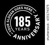 185 years anniversary logo... | Shutterstock .eps vector #655174375