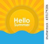 summer holiday abstract...   Shutterstock . vector #655179286