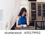 a very beautiful business woman ... | Shutterstock . vector #655179952