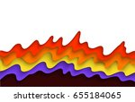 abstract flame background with... | Shutterstock .eps vector #655184065