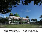 indonesia  jan 8  2017   masjid ... | Shutterstock . vector #655198606