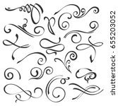 hand drawn swirl ornate... | Shutterstock .eps vector #655203052