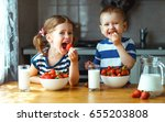 Happy Children Girl And Boy...