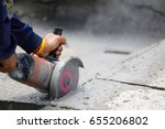hands of worker catching and... | Shutterstock . vector #655206802