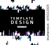 template design banner glitch... | Shutterstock .eps vector #655212325