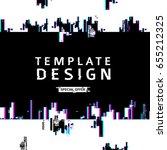 template design banner glitch... | Shutterstock .eps vector #655212325