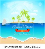 summer holidays banner | Shutterstock . vector #655215112