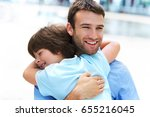 father and son  | Shutterstock . vector #655216045
