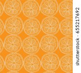 seamless vector pattern with... | Shutterstock .eps vector #655217692