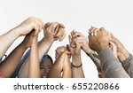 group of people holding hand... | Shutterstock . vector #655220866
