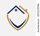 property protection logo with... | Shutterstock .eps vector #655225906