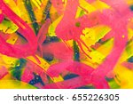 colourful graffiti. closeup... | Shutterstock . vector #655226305