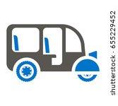 Rickshaw Auto Vector Icon. Asian tuk-tuk travel transport illustration. Indian tuk tuk taxi, tourism vehicle.