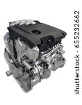 new car engine isolated on... | Shutterstock . vector #655232662