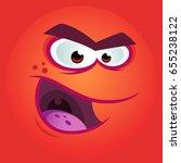 vector illustration of a funny... | Shutterstock .eps vector #655238122