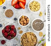 ingredients for a healthy... | Shutterstock . vector #655239976