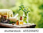 spa still life with essential... | Shutterstock . vector #655244692