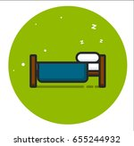 the bed icon | Shutterstock .eps vector #655244932
