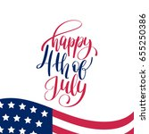 vector happy fourth of july... | Shutterstock .eps vector #655250386