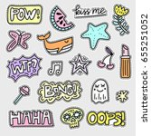 vector patch set   80s 90s... | Shutterstock .eps vector #655251052