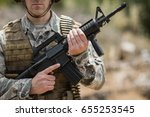 confident military soldier... | Shutterstock . vector #655253545