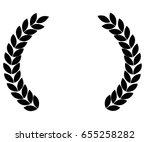 laurel wreath | Shutterstock .eps vector #655258282