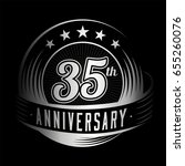 35 years anniversary design... | Shutterstock .eps vector #655260076