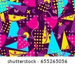 memphis seamless pattern....   Shutterstock .eps vector #655265056