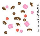 background of cookies. vector... | Shutterstock .eps vector #655265296