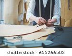 closeup of tailors hands... | Shutterstock . vector #655266502