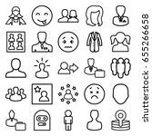 avatar icons set. set of 25... | Shutterstock .eps vector #655266658