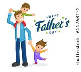 father and sons. father's day... | Shutterstock .eps vector #655268122