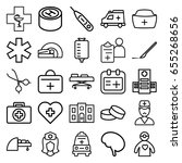 doctor icons set. set of 25... | Shutterstock .eps vector #655268656