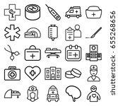 doctor icons set. set of 25... | Shutterstock .eps vector #655268656