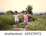 two asian little girls having... | Shutterstock . vector #655270972