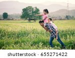 father and daughter having fun... | Shutterstock . vector #655271422