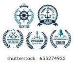 yachting and sailor or marine... | Shutterstock .eps vector #655274932