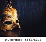 Golden Venetian Ball Mask Over...