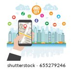 life in a smart city  smart... | Shutterstock .eps vector #655279246