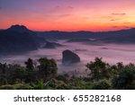 sunrise at phulangka mountain... | Shutterstock . vector #655282168
