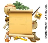 vector safari concept with... | Shutterstock .eps vector #655282906