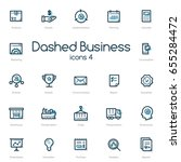 business line icons set with... | Shutterstock .eps vector #655284472