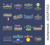 multicolored badge and text.... | Shutterstock .eps vector #655297312