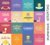 multicolored web banner and... | Shutterstock .eps vector #655297342