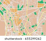 abstract city map. vector... | Shutterstock .eps vector #655299262