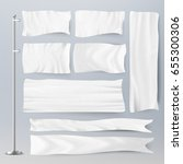 realistic white advertising... | Shutterstock .eps vector #655300306