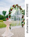 arch for the wedding ceremony ... | Shutterstock . vector #655304602
