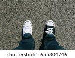 pair of legs  different black...   Shutterstock . vector #655304746