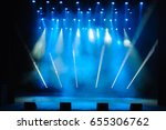 free stage with lights ... | Shutterstock . vector #655306762